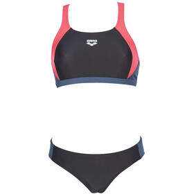 arena Ren Two Piece Bikini Dames, black/fluo red/shark